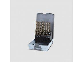 Sada vrtáků do kovu HSS-G CO 19dílů plastový box