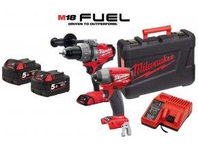 MILWAUKEE 2-dílný set M18PP2A-502C - M18CPD + M18CID