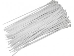 pásky stahovací bílé, 200x3,6mm, 50ks, nylon