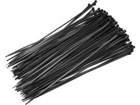 pásky stahovací černé, 200x3,6mm, 50ks, nylon
