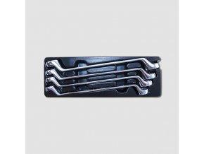 Sada očkových vyhnutých 75° klíčů 4 díly, matné, plastové plato