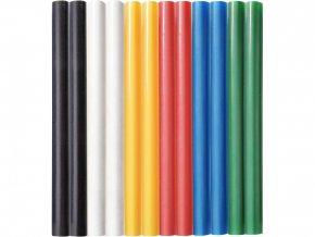 tyčinky tavné, mix barev, pr.7,2x100mm, 12ks