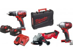 MILWAUKEE 3-dílný set M18CBT350-402C: M18BDD + M18BIW12 + HD18AG115