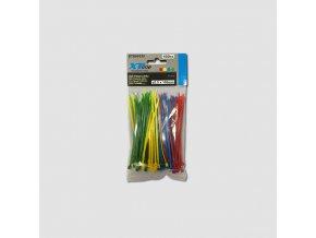 Vázací pásky 150x2,5mm, nylon, 50ks barevné
