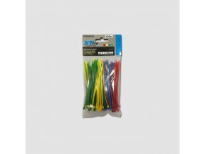 Vázací pásky 200x3,6mm, nylon, 50ks barevné