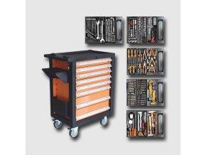 Montážní vozík na nářadí kovový vybavený 400dílů 770x460x970mm  + Dárek dle vlastního výběru