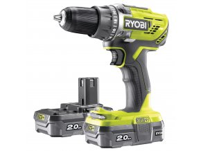 Ryobi R18DD3-220S - aku 18 V kompaktní šroubovák/vrtačka + 2x 2Ah baterie + nabíječka ONE+  + Dárek dle vlastního výběru