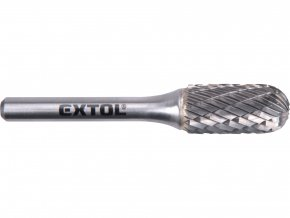 fréza karbidová, válcová s kulovým čelem, pr.12x25mm/stopka 6mm,sek střední(double-cut)