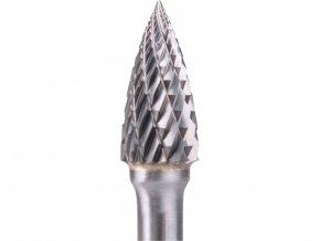 fréza karbidová, ostrý oblouk, pr.10x20mm/stopka 6mm,sek střední(double-cut)