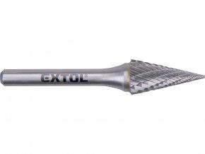 fréza karbidová, konická jehlan, pr.12x25mm/stopka 6mm,sek střední(double-cut)