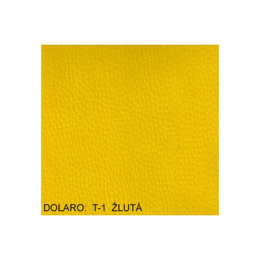 Koženka Dolaro T1 Žlutá (Ekokůže)