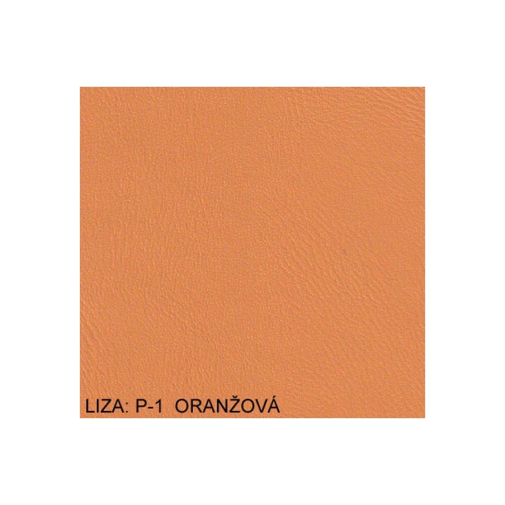 Koženka Liza P1 Oranžová (Ekokůže)