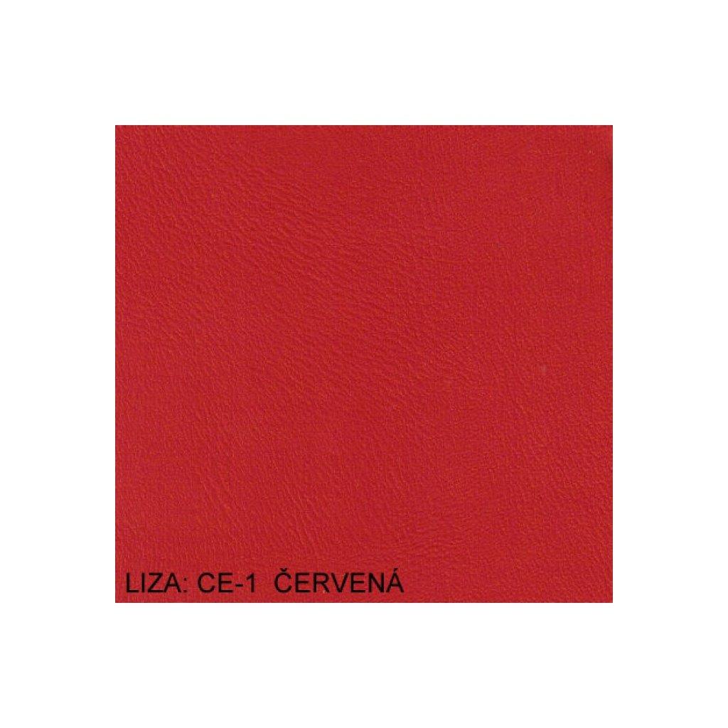 Koženka Liza CE1 Červená (Ekokůže)