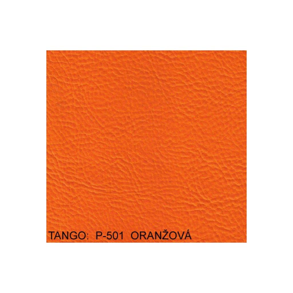 Koženka Tango P501 Oranžová (Ekokůže)