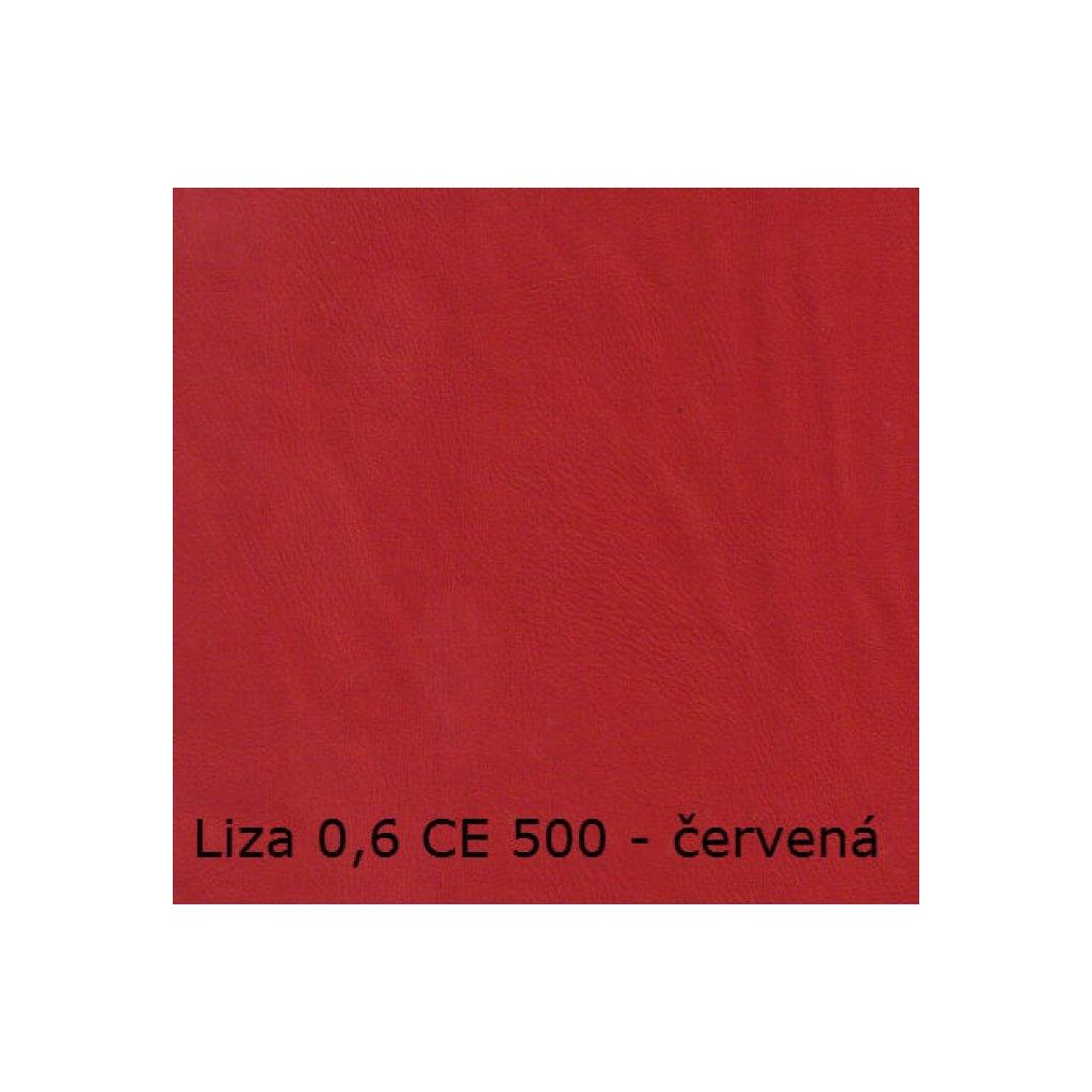Koženka Liza 06 CE 500 Červená