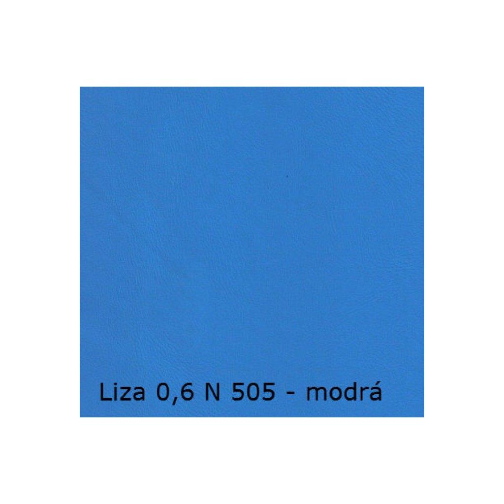 Koženka Liza 06 N 505 Modrá (Ekokůže)