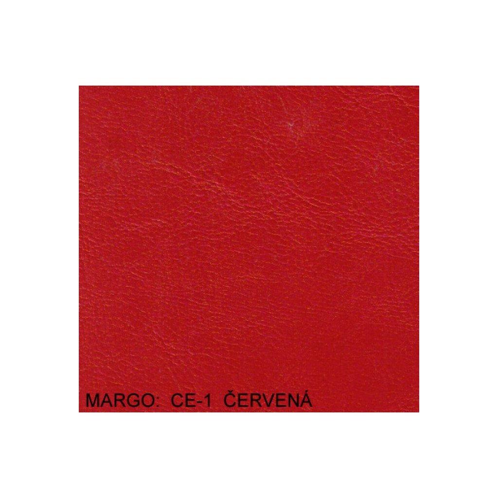 Koženka Margo CE1 červená (Ekokůže)