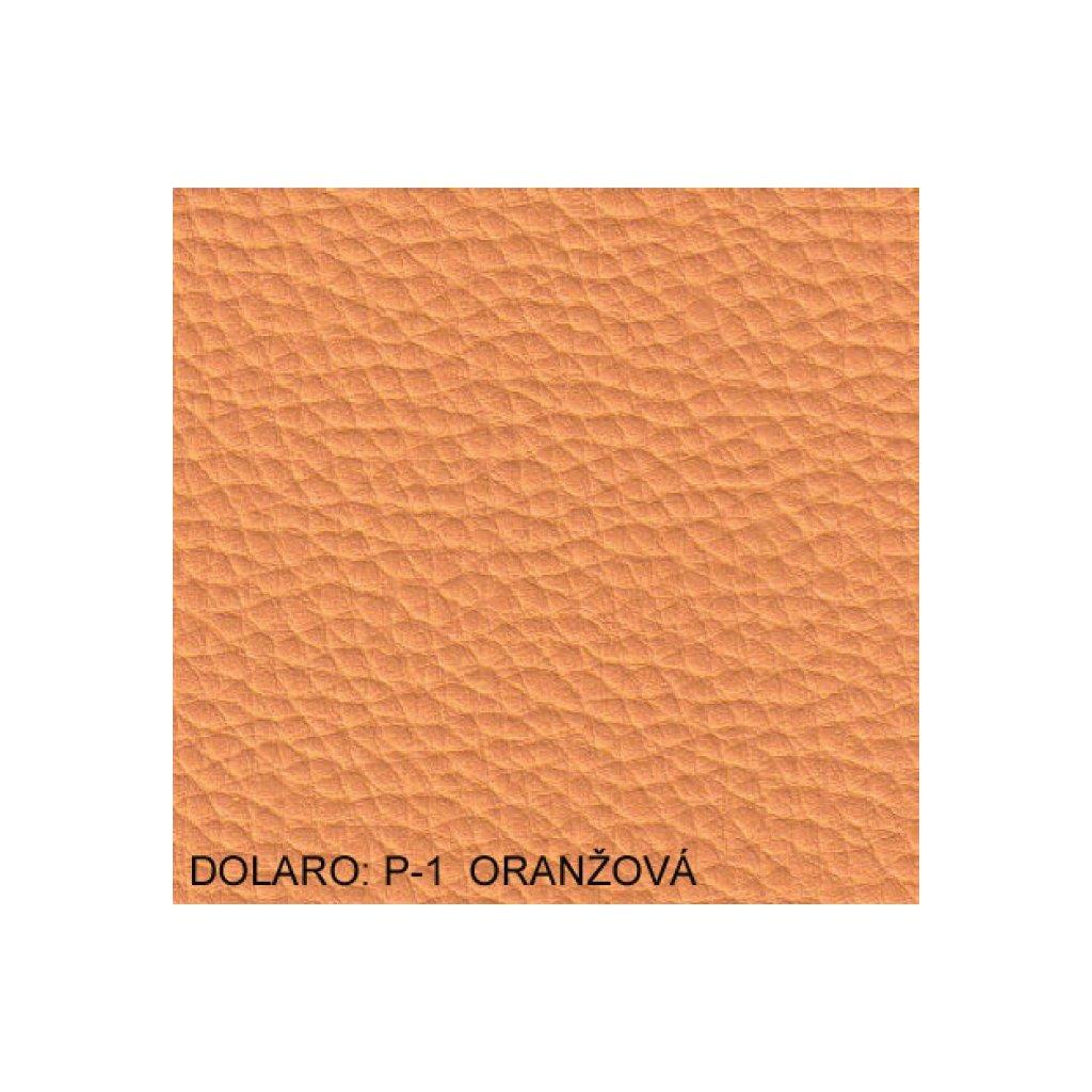 Koženka Dolaro P1 Oranžová (Ekokůže)
