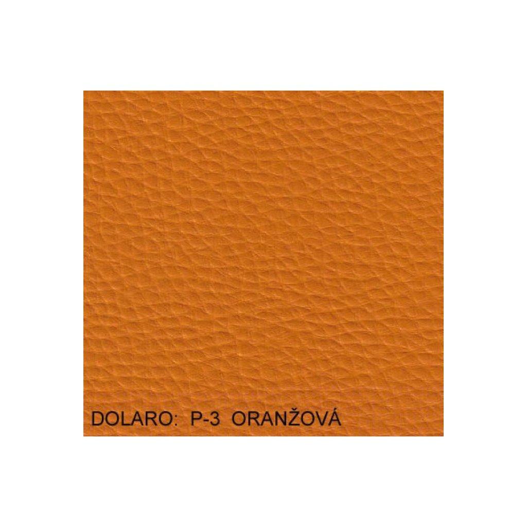 Koženka Dolaro P3 Oranžová (Ekokůže)
