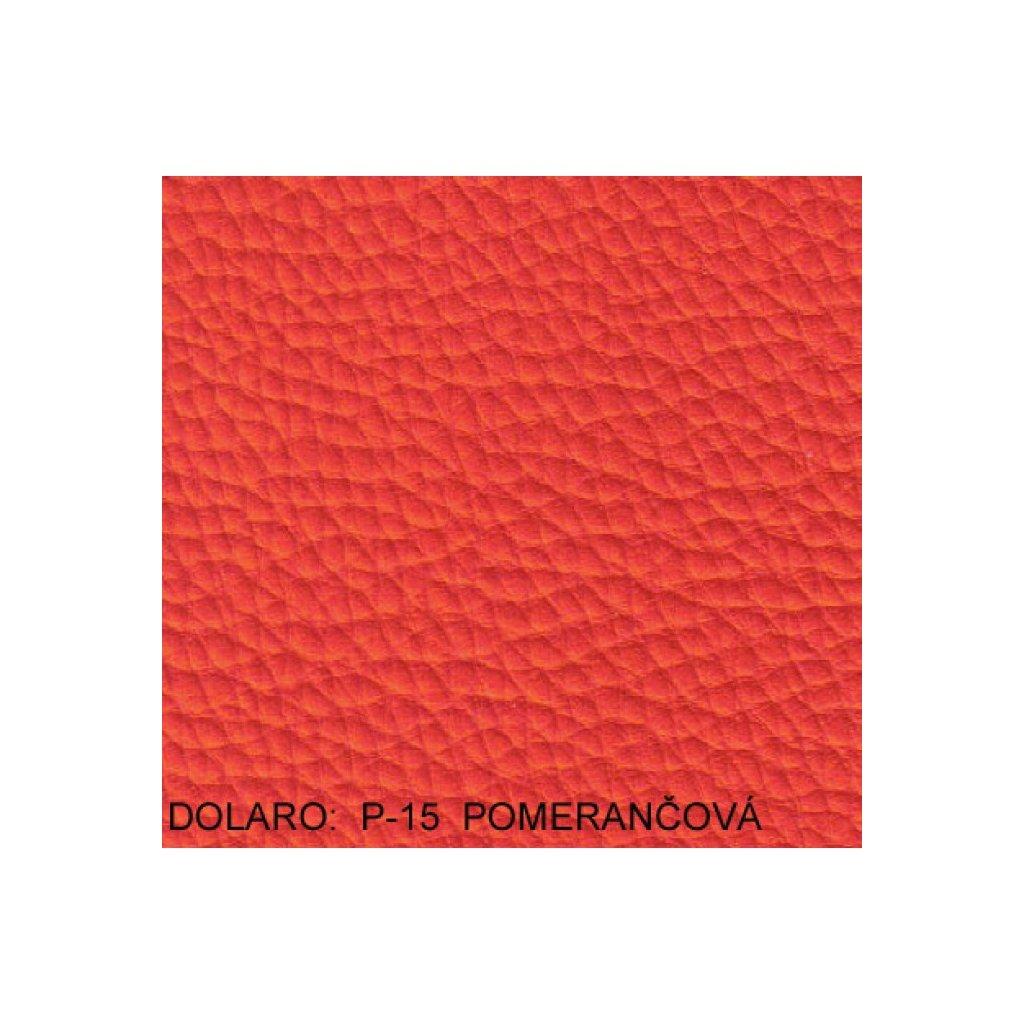 Koženka Dolaro P15 Oranžová (Ekokůže)