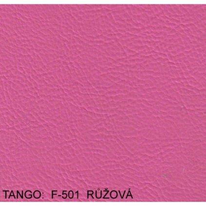 Koženka Tango F501 Růžová (Ekokůže)