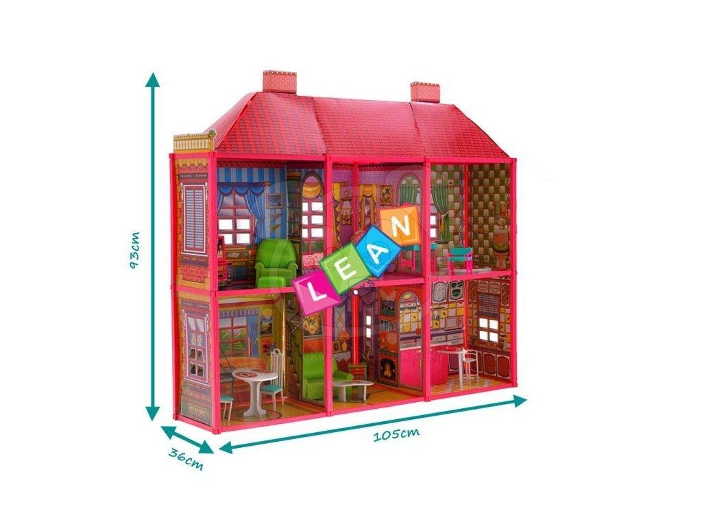 velky domecek pro panenky s 6 pokoji