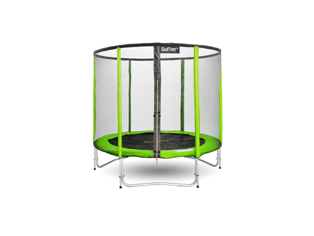 zahradni trampolina sky flyer ring 2v1 244 cm