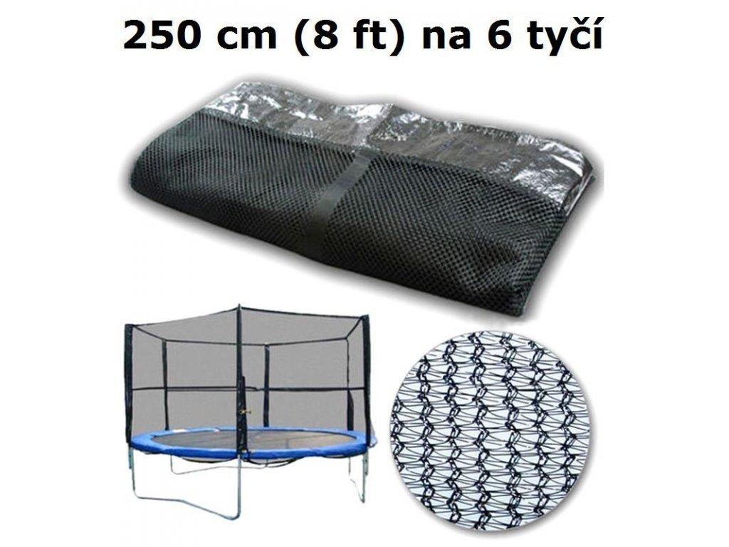 ochranna sit na trampolinu 250 cm 8 ft na 6 tyci