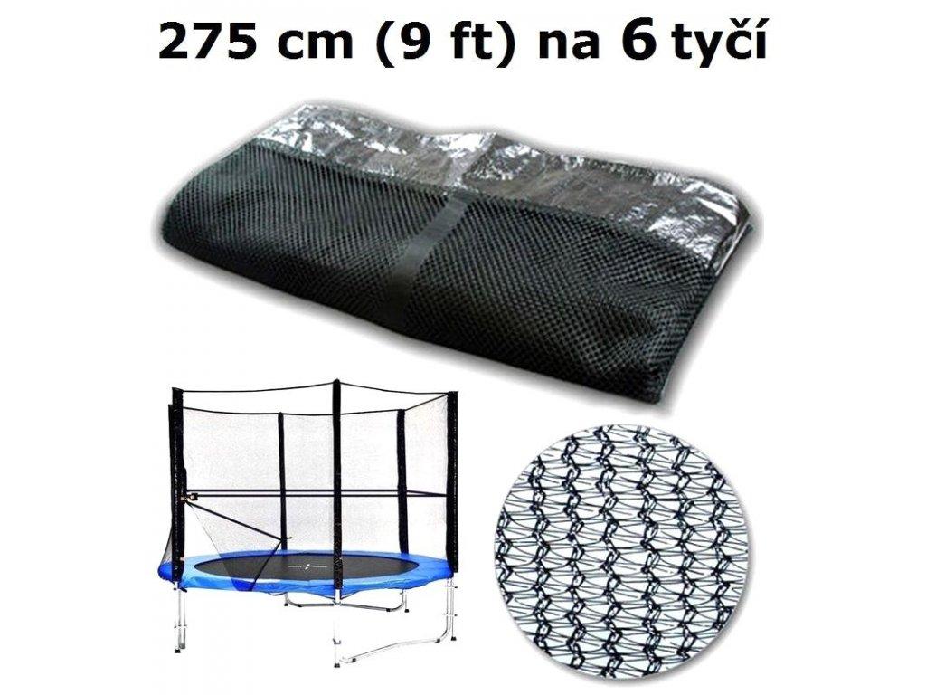 ochranna sit na trampolinu 275 cm 9 ft na 6 tyci