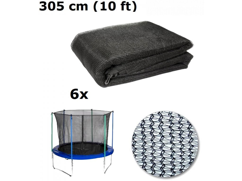 vnitrni ochranna sit na trampolinu 305 cm 10 ft na 6 tyci