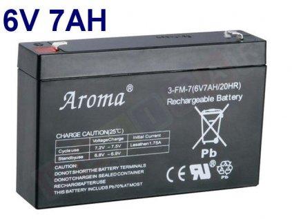 gelova nabijeci baterie 6 v 7 ah 20 hr