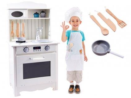 detska drevena kuchynka s vybavenim