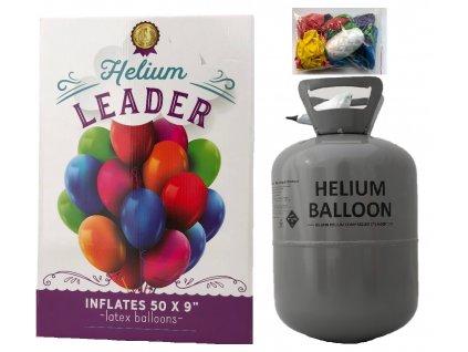 helium do balonku s 50 balonky