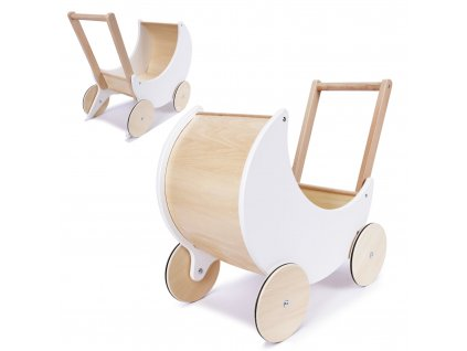 detsky dreveny kocarek pro panenky choditko