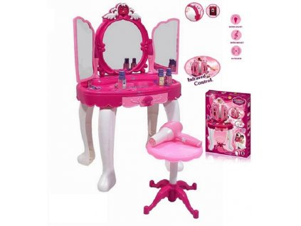 hraci set g21 detsky kosmeticky stolek ii s dalkovym ovladanim