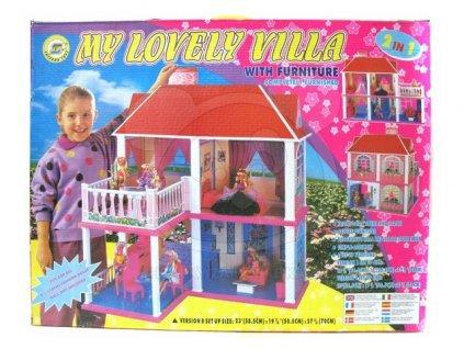 domecek pro panenky s 5 pokoji a terasou