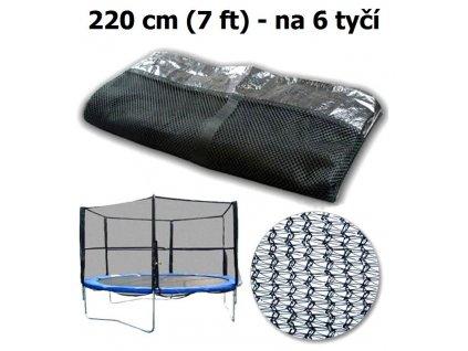 ochranna sit na trampolinu 220 cm 7 ft na 6 tyci