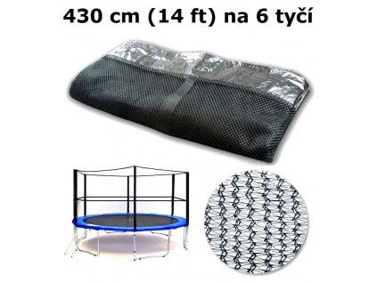 ochranna sit na trampolinu 430 cm 14 ft na 6 tyci