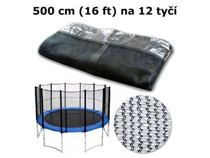 ochranna sit na trampolinu 500 cm 16 ft na 12 tyci
