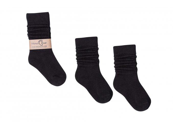 Mama's Feet Dětské podkolenky ponožky Black Dreams černé