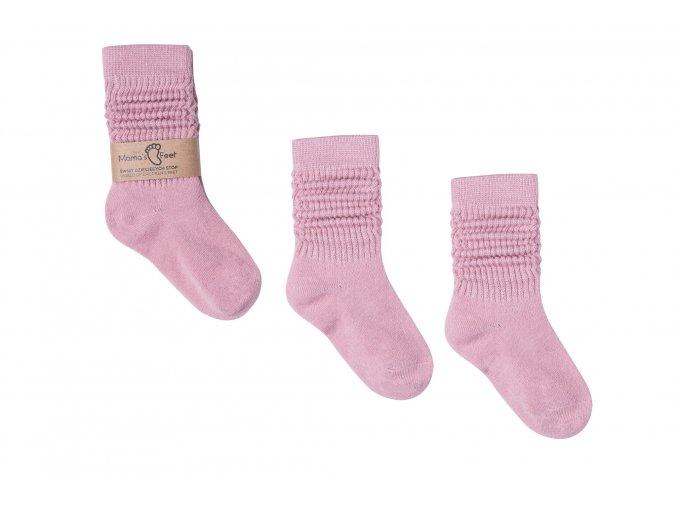 Mama's Feet Dětské podkolenky:ponožky Pink Dreams růžové