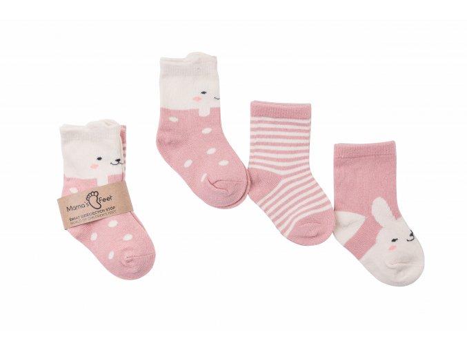 Mama's Feet Dětské roztomilé ponožky Gangsters Squad Powdered Flirts růžové