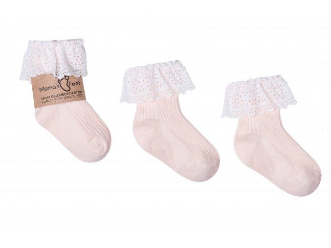 Mama's Feet Dětské ponožky Vintage Love Apricot meruňkové