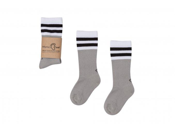 Mama's Feet Dětské podkolenky Back to Old School Grey šedé