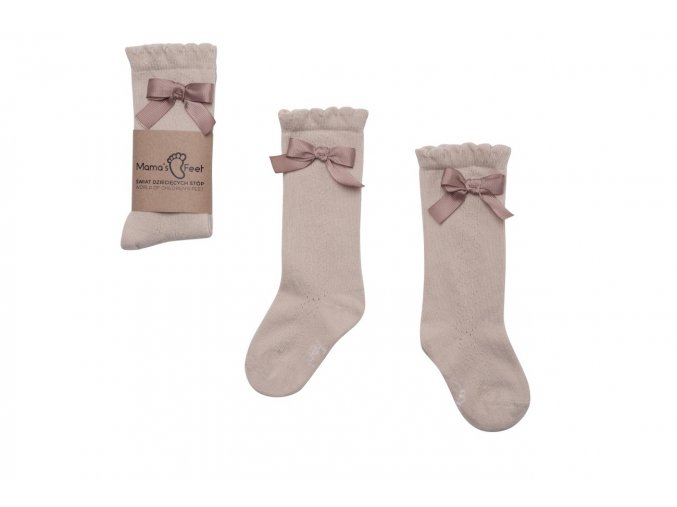 Mama's Feet Dětské podkolenky Knee highs Ladies Josephine béžové