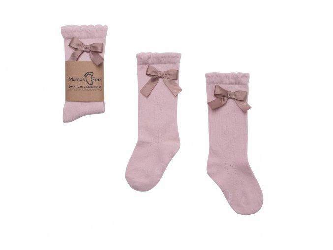 Mama's Feet Dětské podkolenky Knee highs Ladies Florence růžové