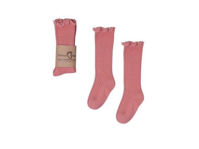 Mama's Feet Dětské podkolenky Mono Baby Dirty Pink růžové