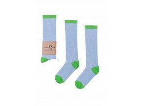 Mama's Feet Dětské perforované podkolenky Funky Blue modré