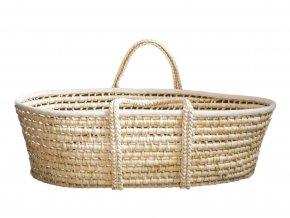 Ahojbaby Mojžíšův košík pro miminko natural + matrace produktový fotografie