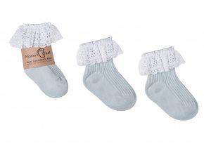 Mama's Feet Dětské ponožky Vintage Love Dirty Minty mintové
